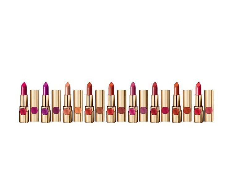 巴黎萊雅純色訂製唇膏新推出9款玫瑰色系。圖/巴黎萊雅提供