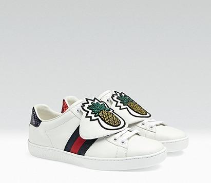 Gucci New Ace刺繡貼片裝飾球鞋,32,900元。