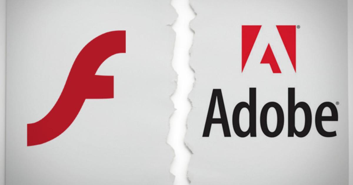 ADOBE宣布,Flash軟體將於2020年底退休。 圖擷自CBS NEWS