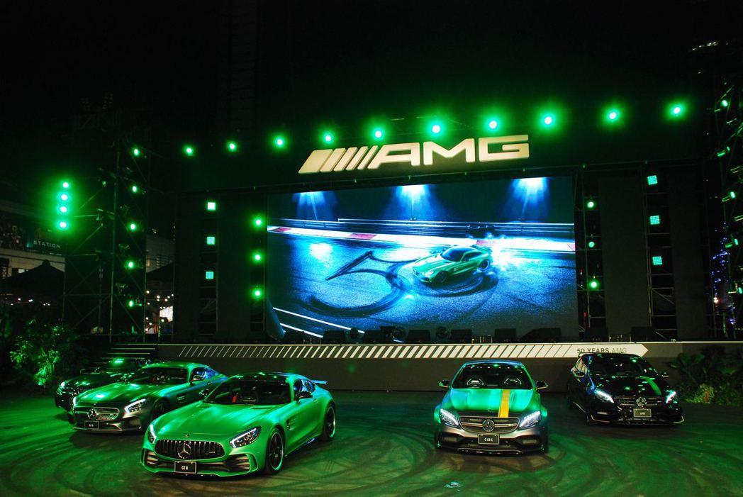 Mercedes-AMG 家族。記者林昱丞/攝影