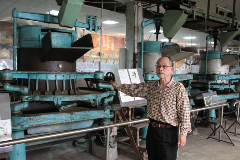 錦泰茶廠的製茶機器歷史悠久。記者徐養齡/攝影
