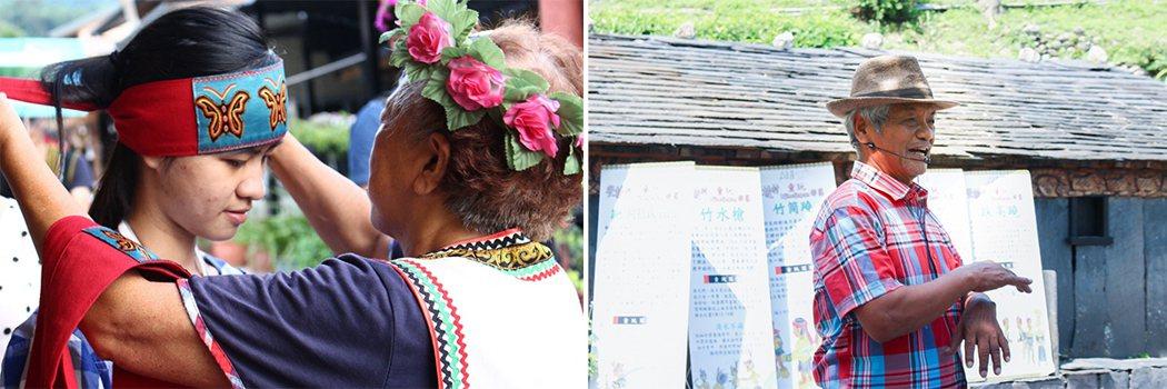 左:kaingu為學員繫上頭巾,歡迎她成為「茉琳琉璃之家」的一份子。攝影/嚴佳佳...