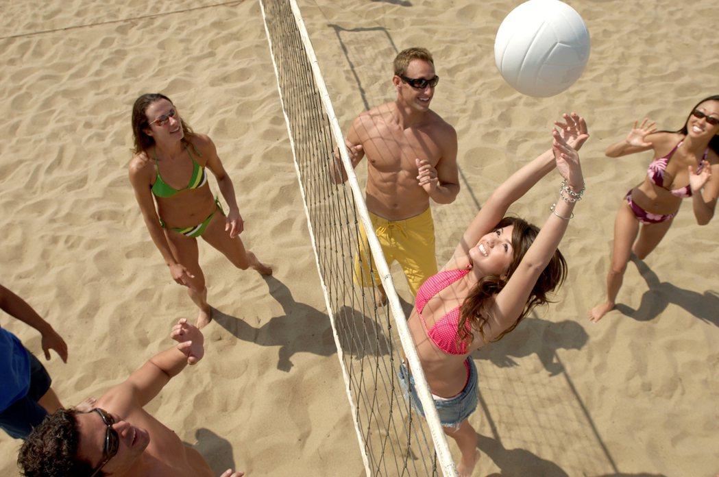 沙灘排球。圖/ingimage