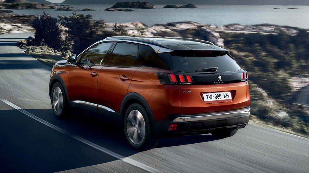 全新世代運動休旅Peugeot 3008。 圖/Peugeot提供
