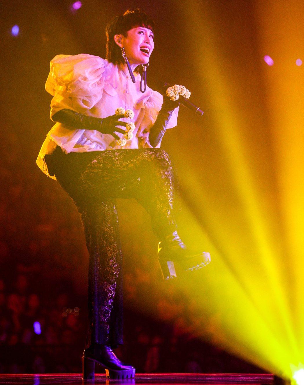 魏如萱今晚在台北小巨蛋舉辦「末路狂花」演唱會。記者程宜華/攝影