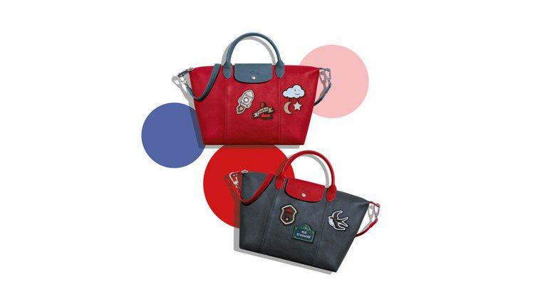 Le Pliage Cuir小羊皮摺疊包有2色,包款加3個自選徽章售價26,30...