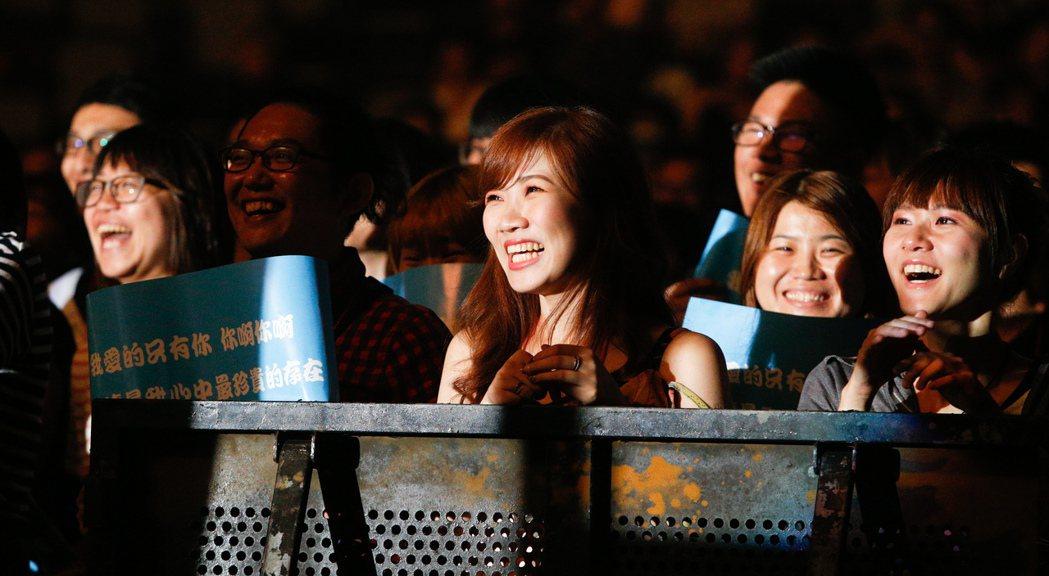 魏如萱今晚在台北小巨蛋舉辦「末路狂花」演唱會,歌迷聽的如癡如醉。記者程宜華/攝影