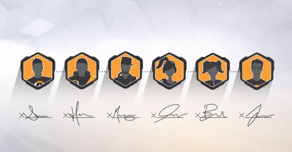 《鬥陣特攻》職業電競聯賽第一賽季官方玩家簽約時段,從2017年8月1日至10月3...