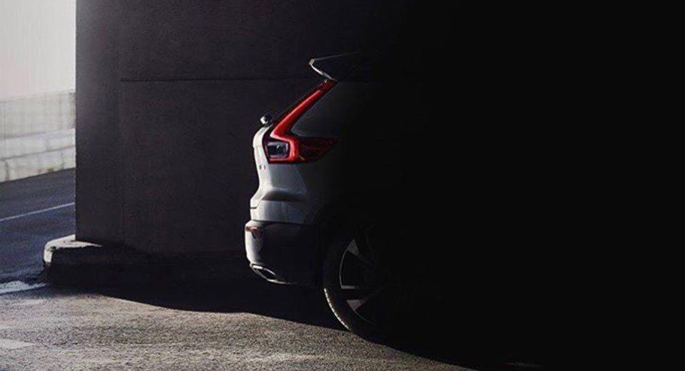 Volvo XC40首張預告照片。圖/Volvo提供