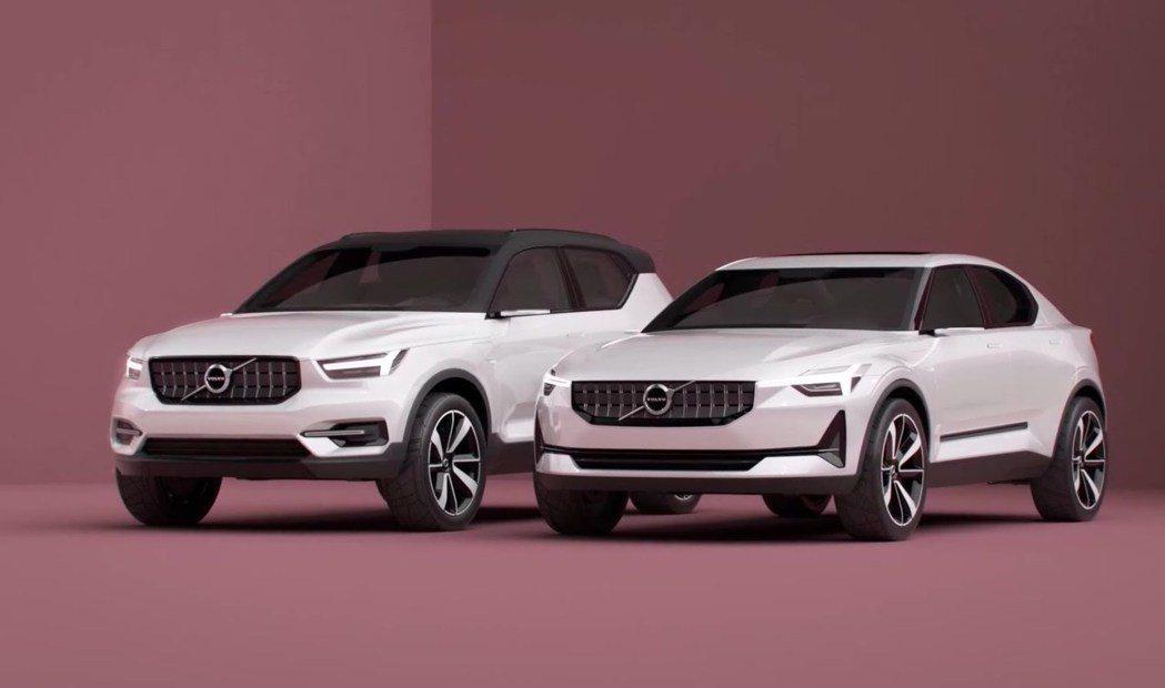概念車《Concept 40.1》和《Concept 40.2》。圖/Volvo提供