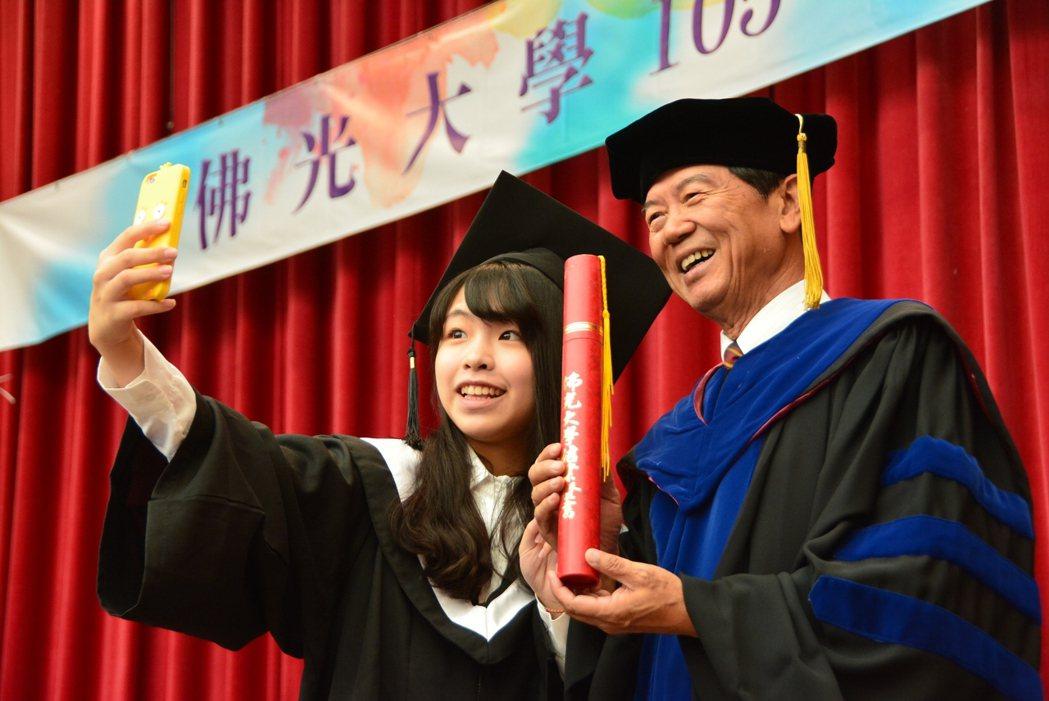 佛光大學楊朝祥校長說佛光最美的風景是人。 佛光大學提供