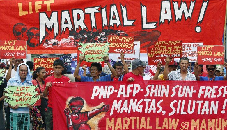 儘管Lumad反對戒嚴,但對大多數菲律賓人來說,戒嚴並無可議,也無不妥。 圖/美聯社