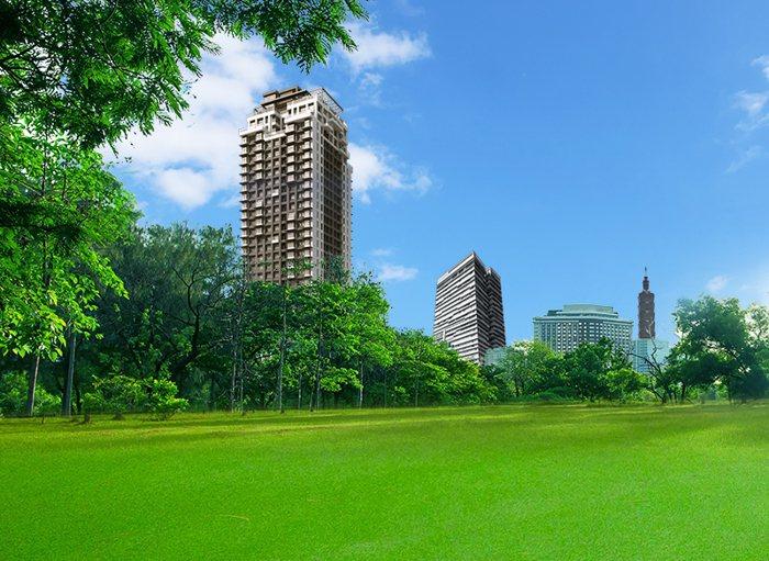 「筑丰陽陽」以豪宅高標準規劃,打造28層汐止最高地標。 圖/筑丰建設提供