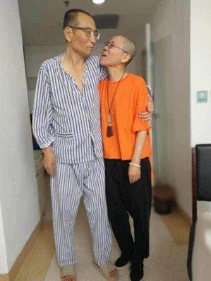 劉曉波與妻子劉霞資料照。