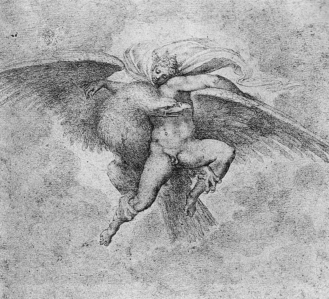 米開朗基羅(Michelangelo),《劫持伽倪墨得斯》(Rape of Ga...