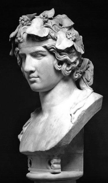 《被塑造為酒神的安提諾烏斯》(Antinous as Dionysus),哈德良...