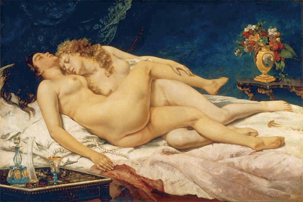 古斯塔夫‧ 庫爾貝,《睡眠》(The Sleepers),1866年,巴黎小皇宮...