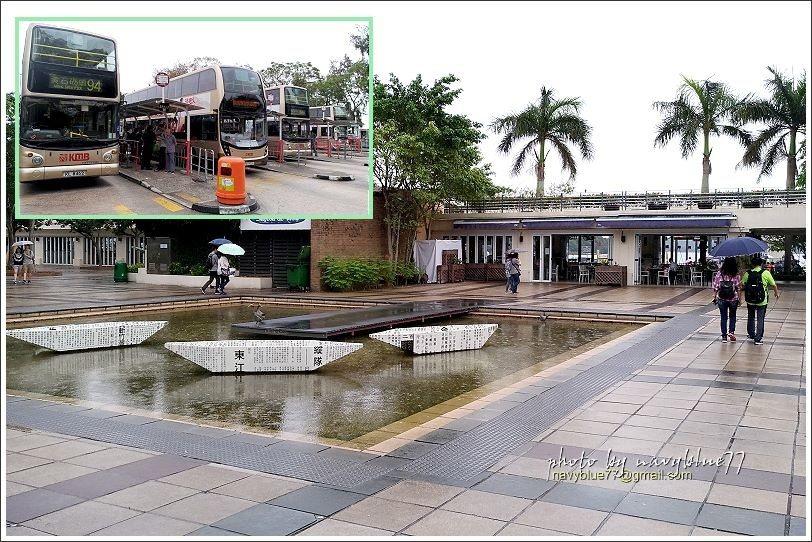 ↑左上圖:西貢巴士總站。巴士站旁是西貢海濱公園及西貢公眾碼頭。這天一直下著細雨,...