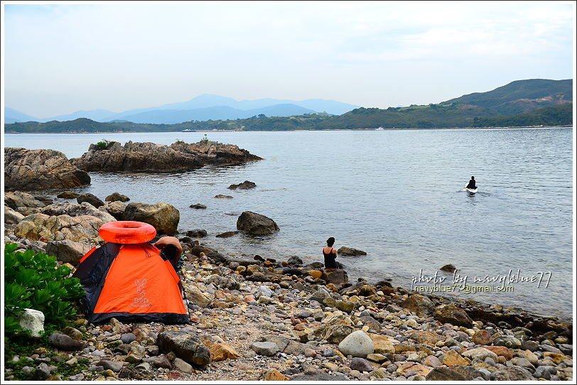 ↑在橋咀洲島相對廈門灣的另一頭,是個划獨木舟的祕密基地。