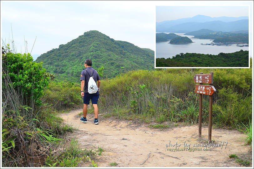 ↑沿途也有幾個展望點視野頗佳,右上圖是東望滘西洲的景觀,但濛濛的很可惜。