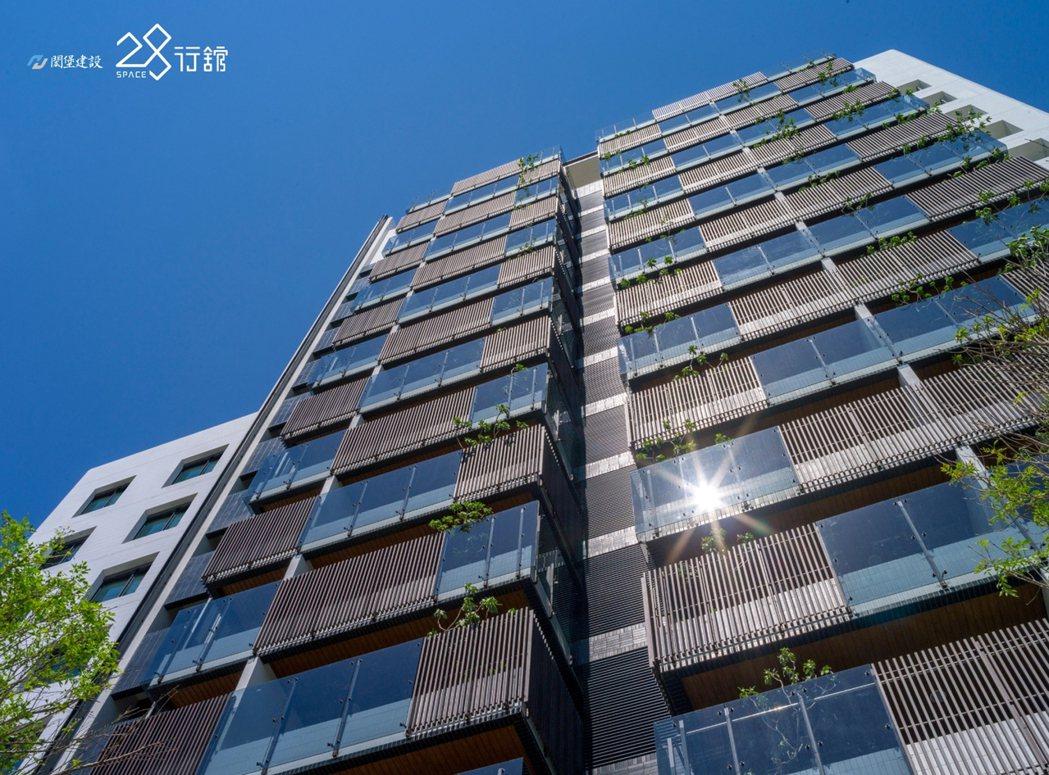 仁武最美的天際線 .崁入湛藍的天空.28行館時尚精品建築外觀。 圖片提供/閎堡建...