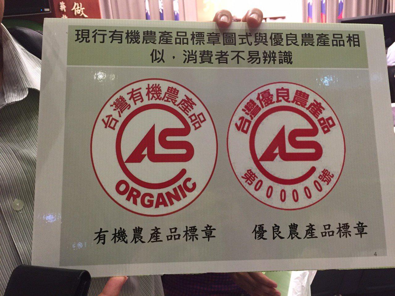 現行有機農產品標章圖示與優良農產品相似,消費者不易辨識,農委會將推出有機新標章。...