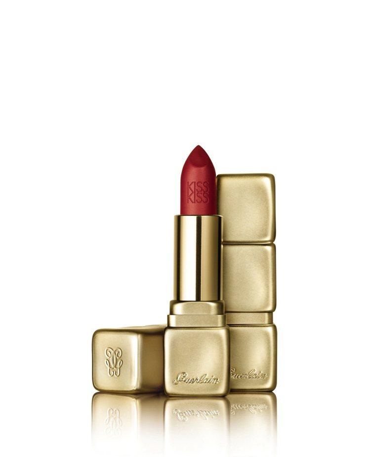 KISSKISS法式之吻華麗絲霧唇膏M330色號,1,350元。圖/嬌蘭提供