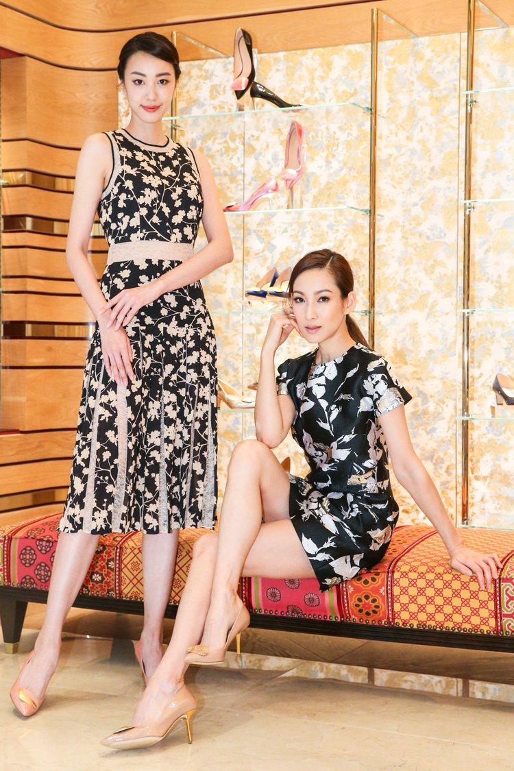 名模李曉涵、張敏紅展演R • SANDERSON全新Shadow系列鞋款。記者王...