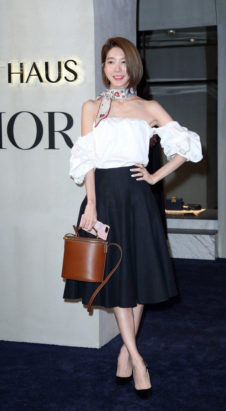 宋米秦是ART HAUS首賣Dior秋冬酒會嘉賓。記者陳瑞源/攝影