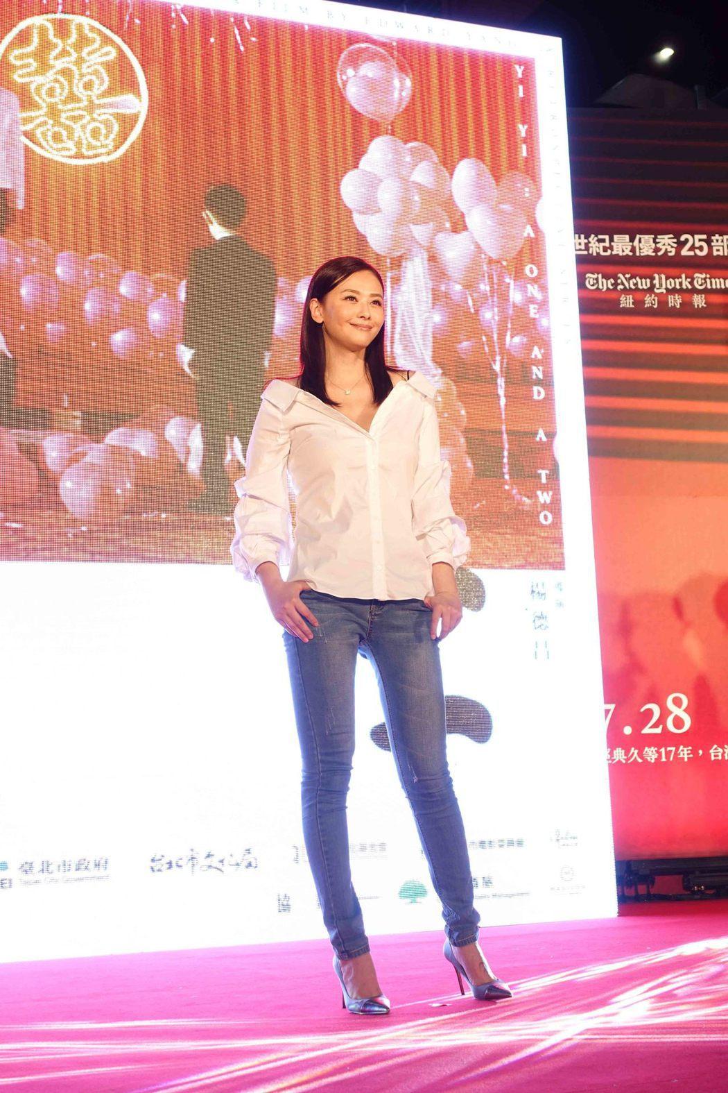 蕭淑慎恢復昔日丰采,出席「一一」首映會。圖/傳影互動提供