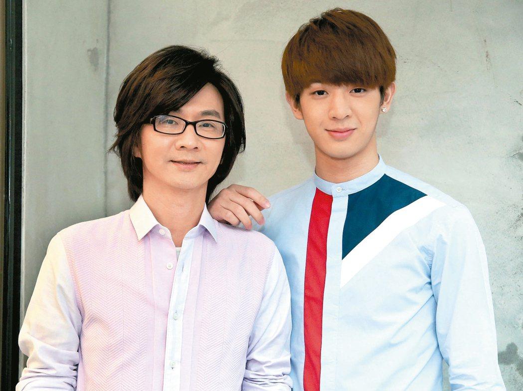 林隆璇(左)與兒子林亭翰。 圖/本報資料照片