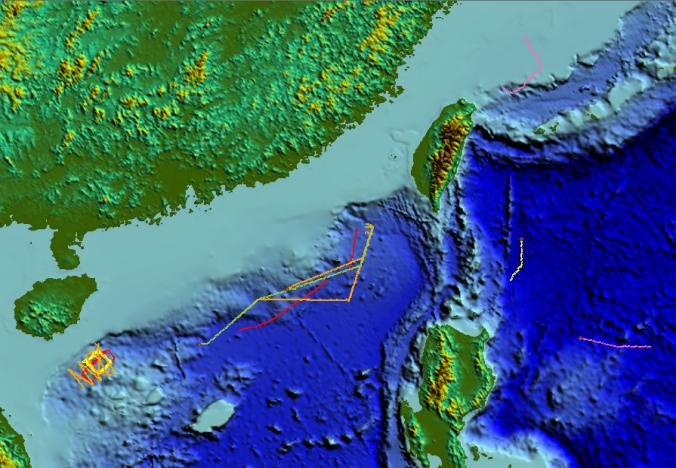 「海翼」號水下滑翔機在海洋中的「足跡」。 (中國科學院官網)