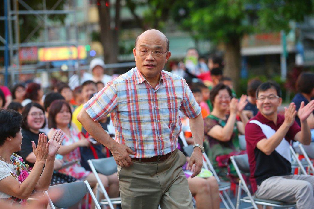 民進黨新北人選一度包括老縣長蘇貞昌。 圖/報系資料照