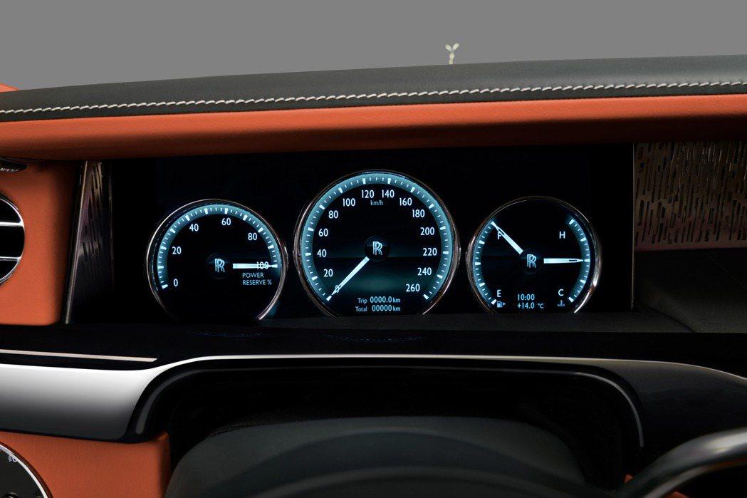 第八代Rolls-Royce Phantom儀表板。圖/Rolls-Royce提供