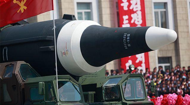 北韓28日晚間又發射導彈。 (美聯社)