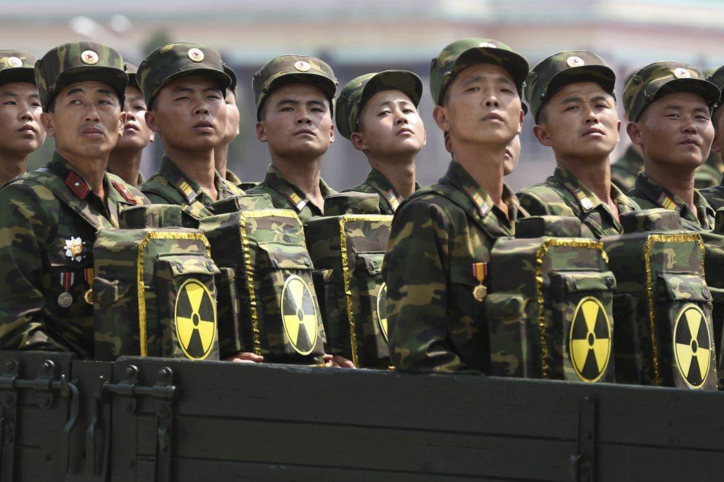 北韓軍費開支占GDP比重遠超過全球任一國家。 (美聯社)