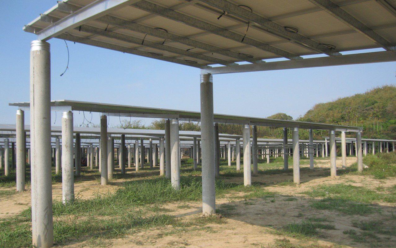 違法太陽能光電棚,底下沒有任何的農業經營事實,被撤銷容許。圖/讀者提供