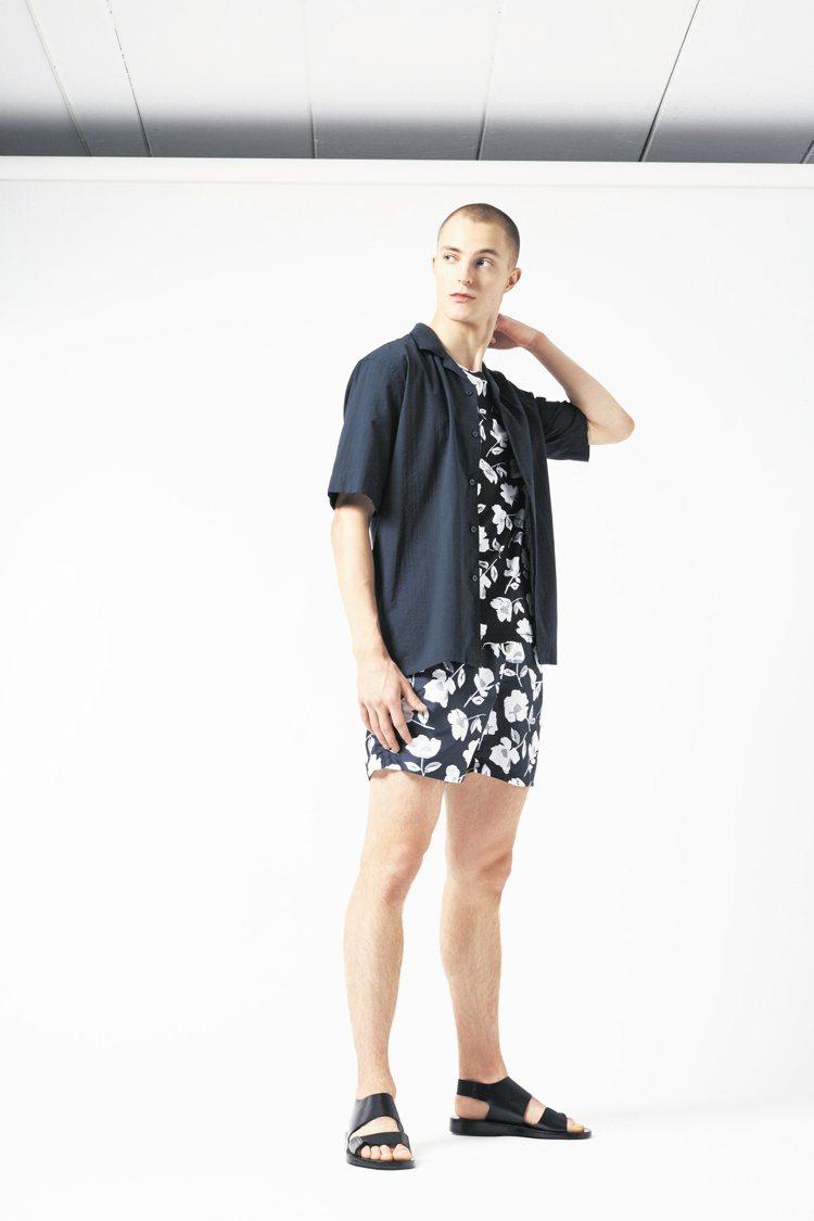 瑞典設計師品牌J.Lindeberg早秋系列,自然元素取經在海灘褲上,運用了「扶...