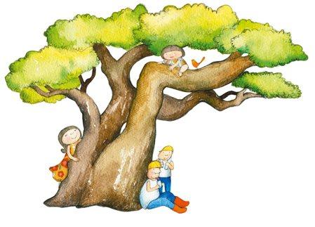 很久很久以前,我就想著家裡要種棵樹,一棵能讓我爬上爬下,有樹傘遮蔭乘涼、會開花結...