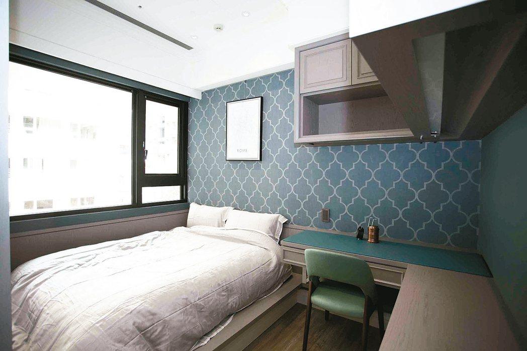 臥室可選擇自己喜歡的顏色,搭配偏好的幾何圖形,讓主人在舒適的環境下放鬆休息。 永...