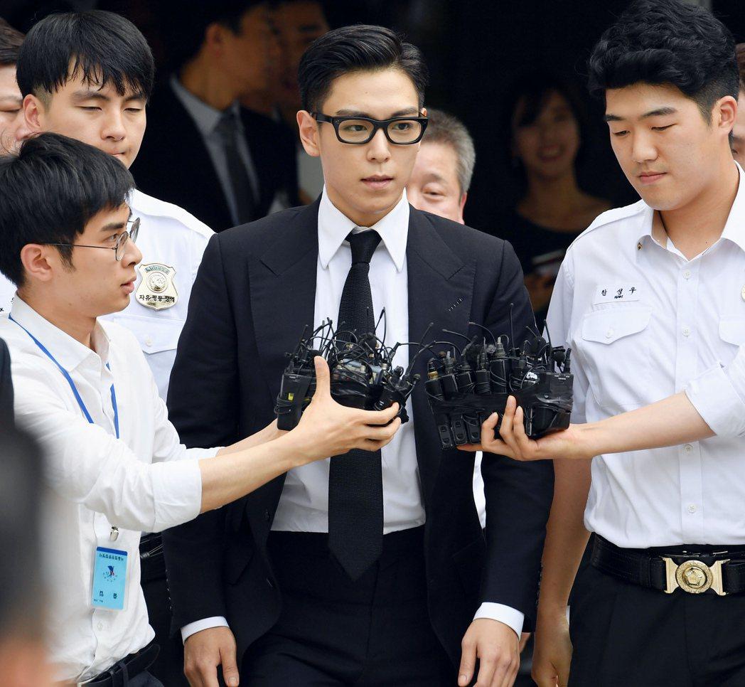 南韓首爾中央地方法院20日對男團BIGBANG 成員T.O.P吸毒案進行一審宣判