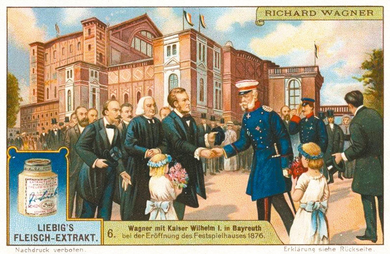 1876年「指環系列」四聯劇首演時,德皇威爾翰一世(Kaiser Wilheim...