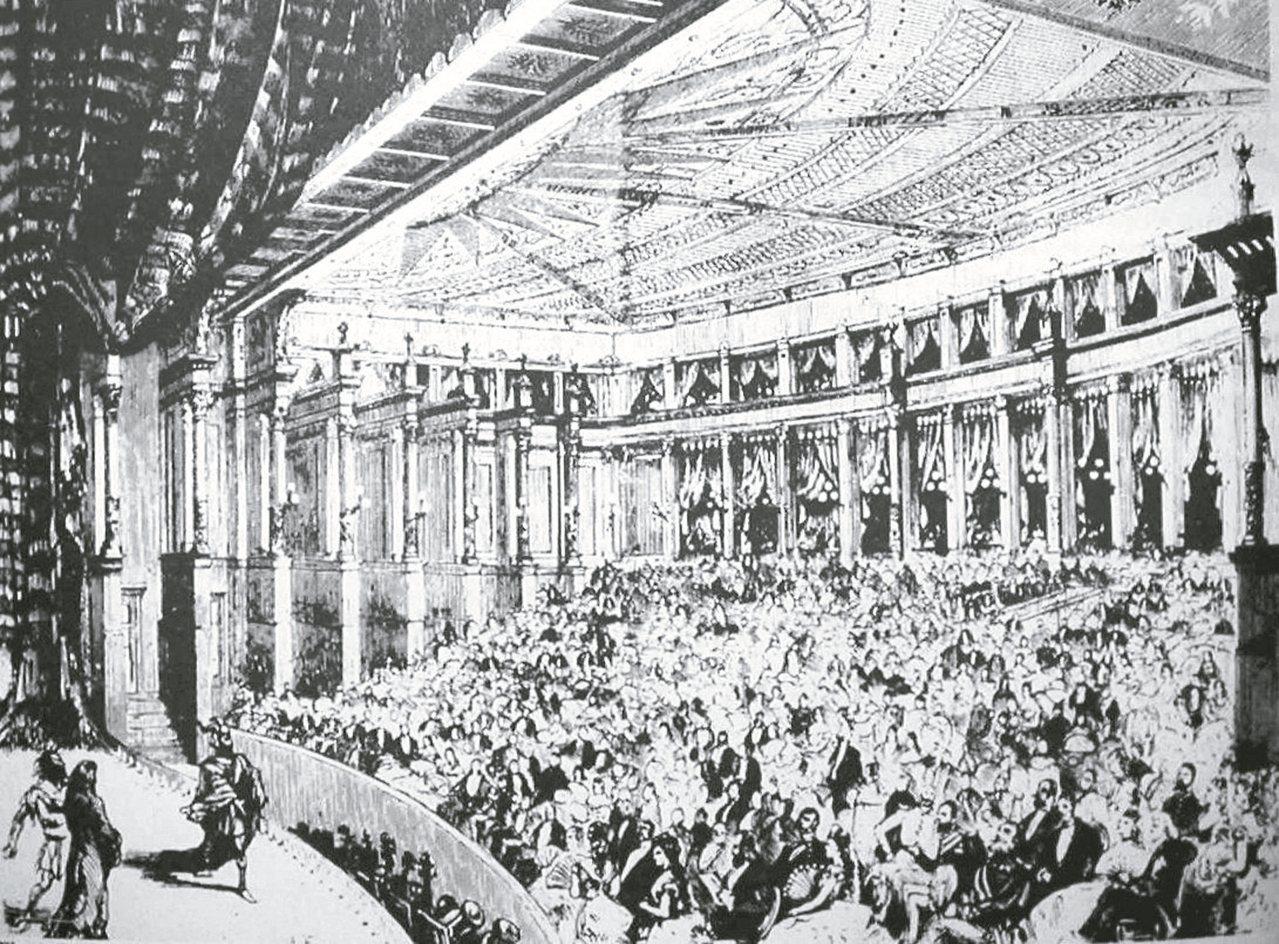 華格納時代「節日劇場」的內景及觀眾。 楊世彭˙圖片提供