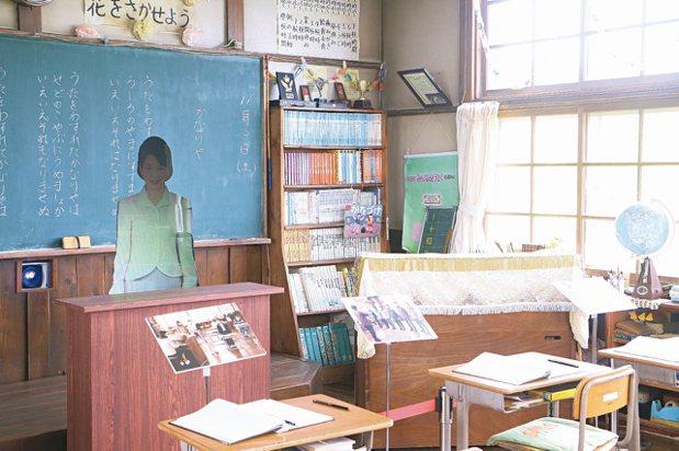 麗端小學是為了拍攝電影而搭建的場景。 記者沈佩臻/攝影