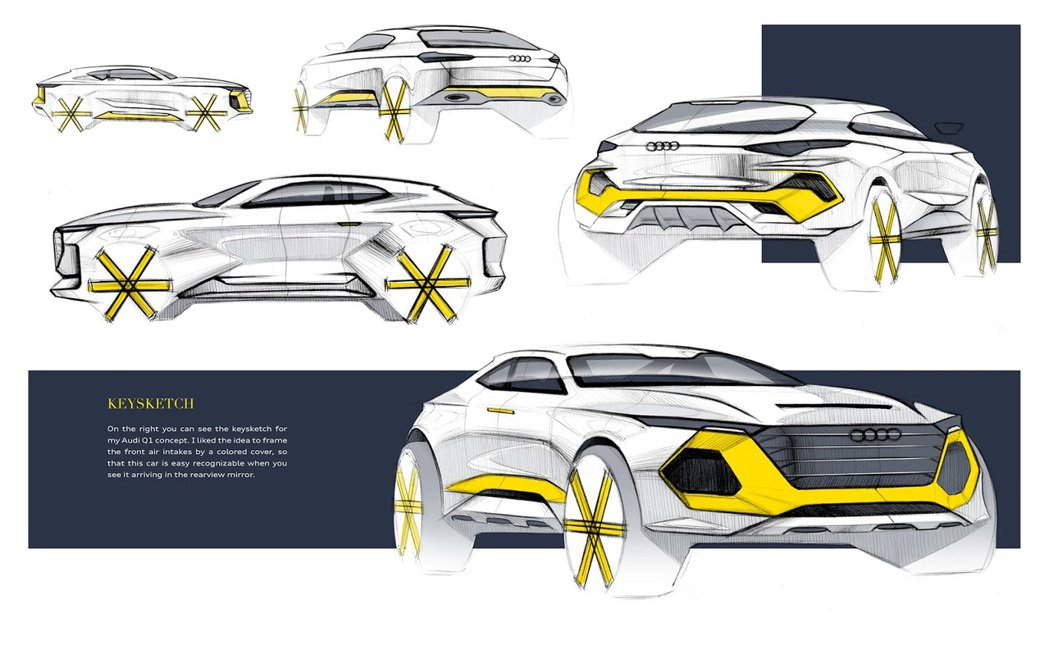 Florian Westermann設計的Audi Q1 概念車。圖/摘自Flo...
