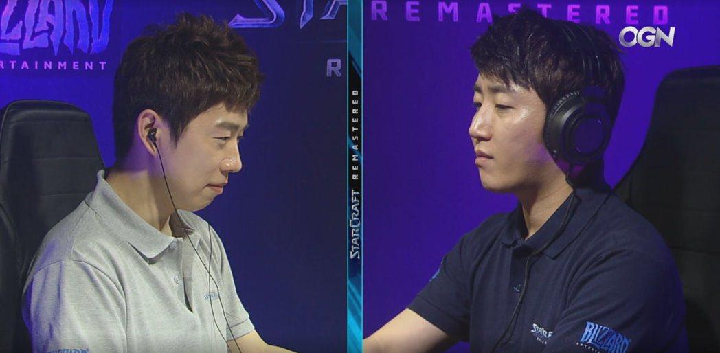 Boxer(左)與YellOw(右)的恩怨對局再次上演。 圖/賽事VOD