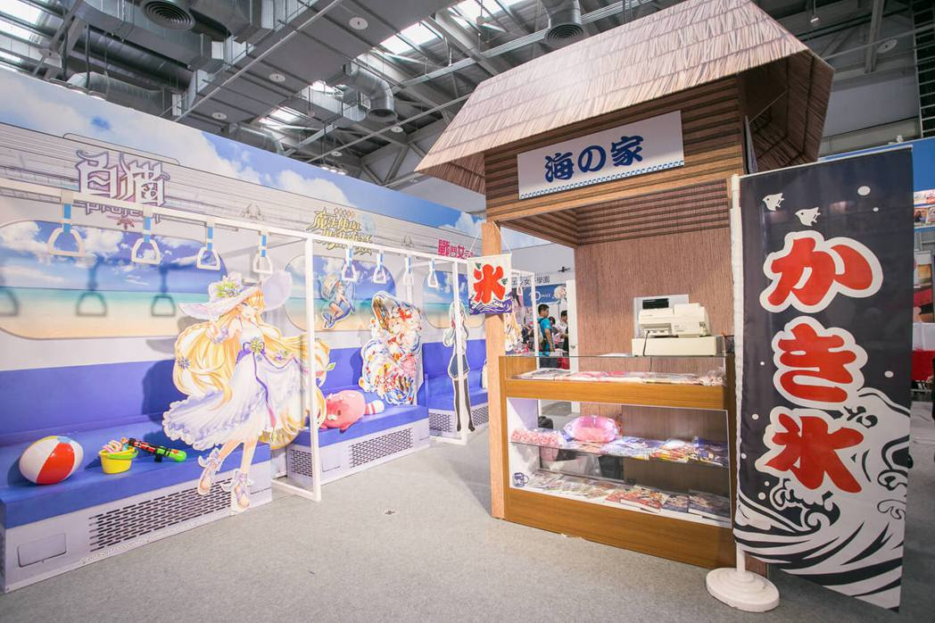 So-net 斥資近百萬打造FF30「夏日出遊電車」攤位! 圖/So-net提供...