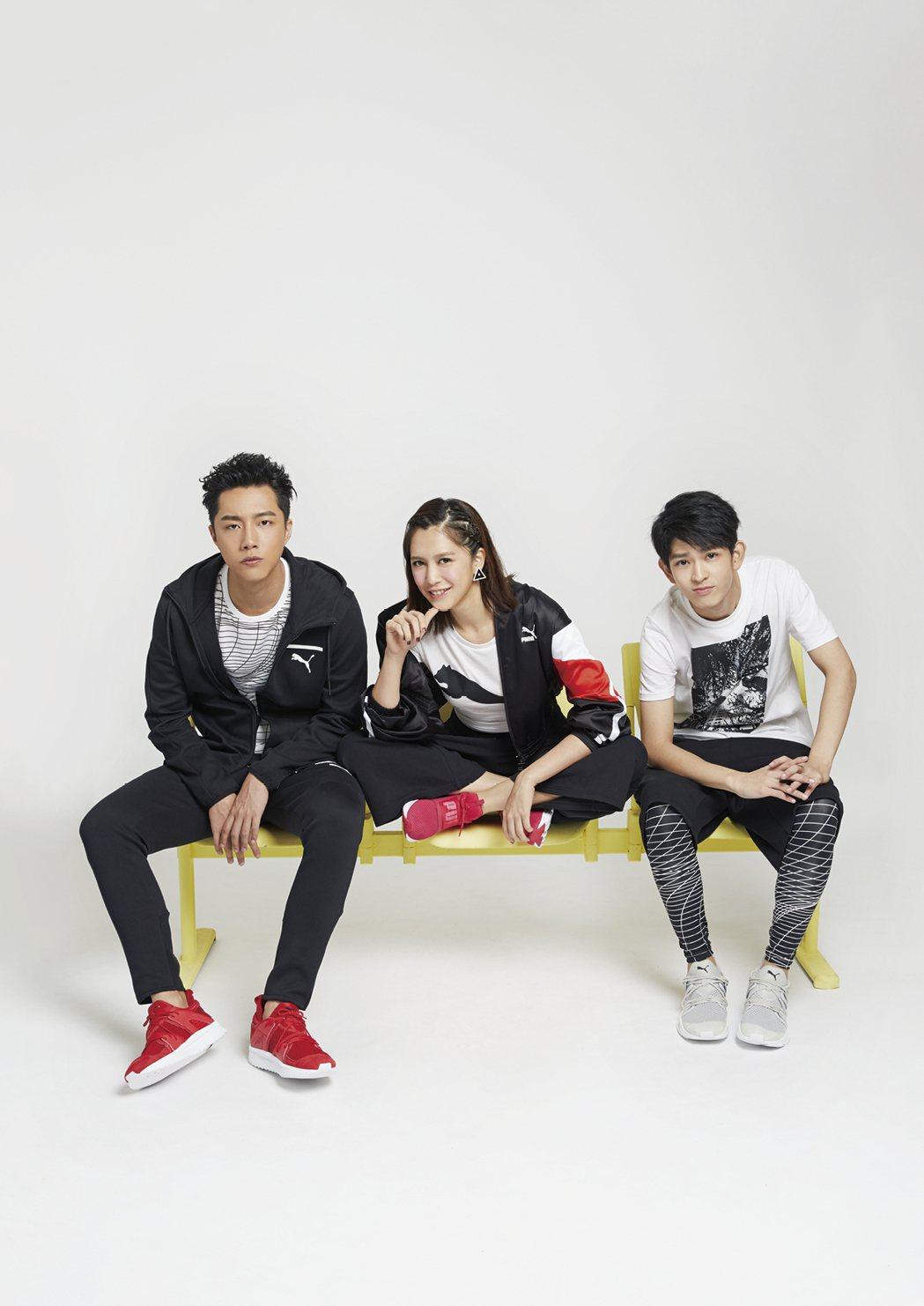 蔡凡熙(左起)、劉奕兒、鄧育凱擁有新世代活力。圖/《MILK潮流誌》提供