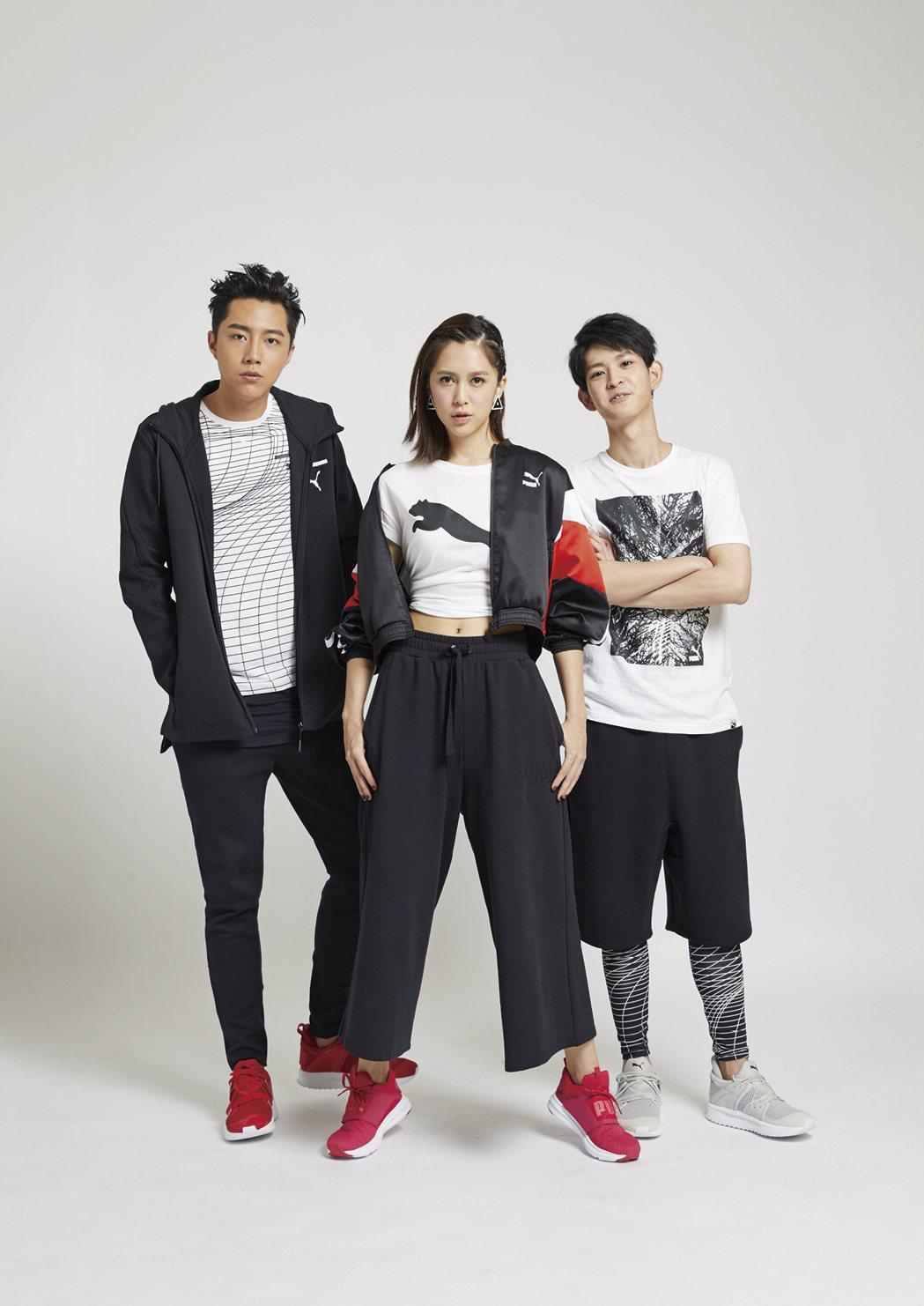 蔡凡熙(左起)、 劉奕兒、 鄧育凱擁有新世代活力。圖/《MILK潮流誌》提供