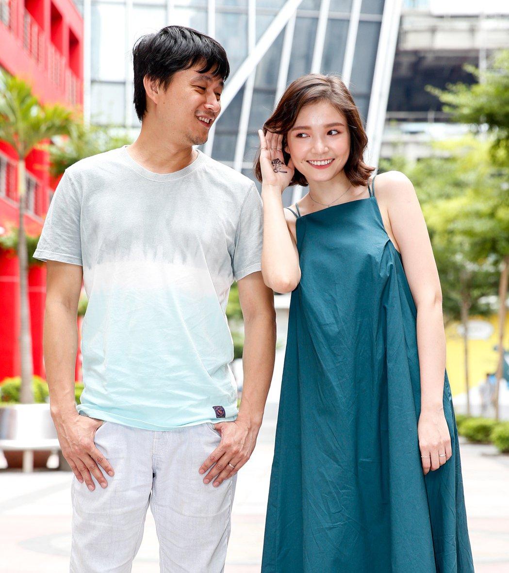 「痴情男子漢」導演連奕琦(左)與女主角韓笙笙(右)合影。記者程宜華/攝影